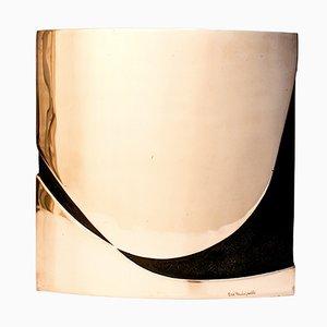 Vase Sculptural en Bronze par Esa Fedrigolli pour Spirale Arte, 1970s
