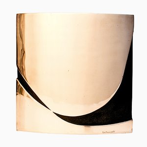 Vaso scultoreo in bronzo di Esa Fedrigolli per Spirale Arte, anni '70