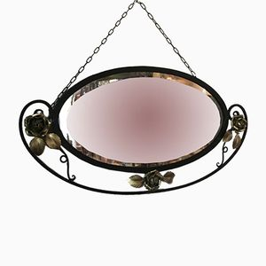 Art Deco Mirror in Wrought Iron, 1940s