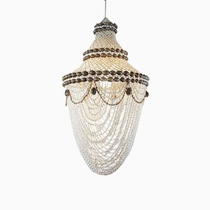 Macrame Shell Ceiling Lamp, 1970s