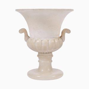 Art Deco Deckenfluterlampe aus Alabaster in Urnen-Optik