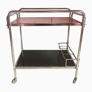 Red and Black Serving Cart, 1970s