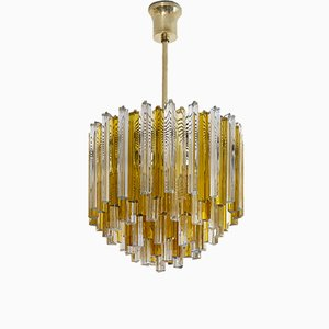 Mid-Century Italian Murano Glass Chandelier from Venini, 1960s