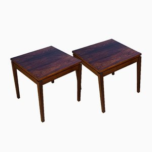 Vintage Danish Rosewood Side Tables, Set of 2