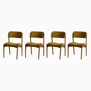 Model 49 Dining Chairs by Erik Buch for Oddense Maskinsnedkeri, 1960s, Set of 4