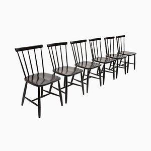 Italienische Mid-Century Esszimmerstühle von Casa Arredo, 1960er, 6er Set