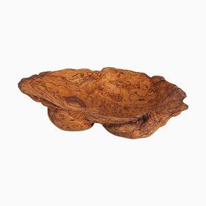 Vintage Wabi Sabi Schale aus natürlichem Olivenholz