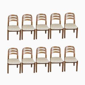 Vintage Danish Teak Chairs from Dyrlund, Set of 10