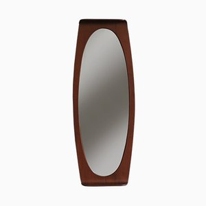 Italian Teak Mirror by Campo e Graffi for Home, 1950s