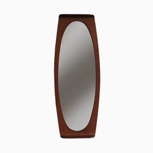 Italienischer Spiegel mit Rahmen aus Teak von Campo e Graffi für Home, 1950er