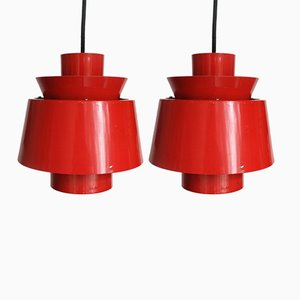 Danish Pendant Lamps by Jørn Utzon for Nordisk Solar, 1960s, Set of 2