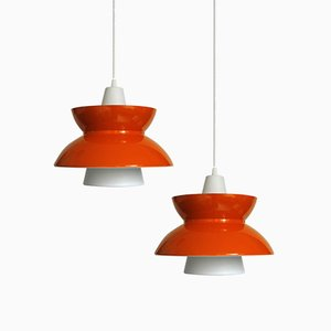 Søværns Pendant Lamps by Jørn Utzon for Louis Poulsen, 1970s, Set of 2
