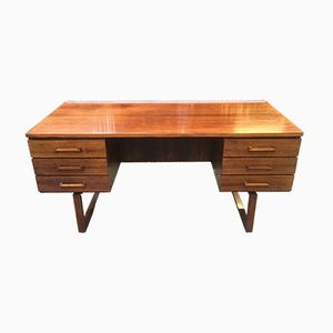 Mid-Century Danish Glossy Rosewood Desk by Henning Jensen & Torben Valeur for Schou Andersen, 1960s