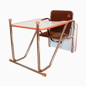 Wandelbarer Vintage Hochstuhl oder Spieltisch für Kinder