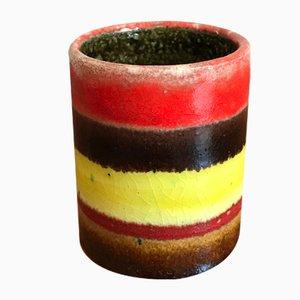 Italian Stoneware Glass Vase by Bruno Gambone, 1960s