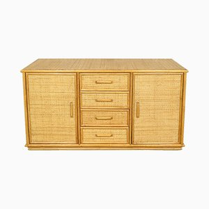 Vintage Dutch Rattan Sideboard, 1970s