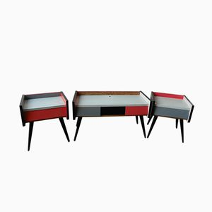 Rockabilly Nightstands from Swarzędz Furniture Factory, 1960s, Set of 2