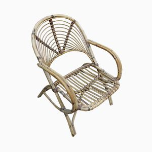 Vintage Rattan Lounge Chair, 1970s