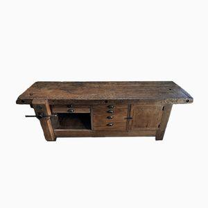 Banco da lavoro da carpentiere vintage industriale