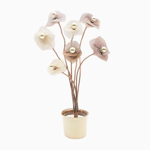 Vintage Regency Flower Floor Lamp, 1960s