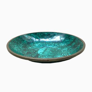 Vintage Malachite Bowl, 1970s
