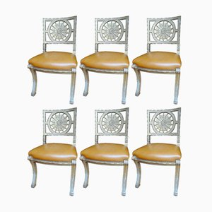 19th Century Silver Plated Chairs, Set of 6