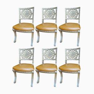 Versilberte Stühle, 19. Jh., 6er Set