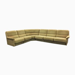 Large Vintage Sectional Green Sofa from Laauser, 1960s