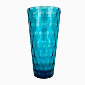 Jarrón bohemio grande de cristal