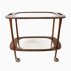Mid-Century Italian Bar Cart by Cesare Lacca for Cassina, 1950s