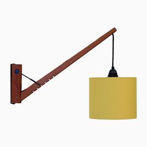 Mid-Century Wandlampe aus Teakholz, 1960er