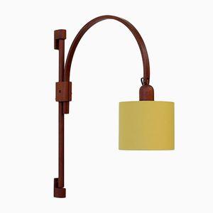 Lámpara de pared vintage de teca de Dyrlund