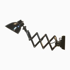 Black Industrial Scissor Wall Lamp, 1960s