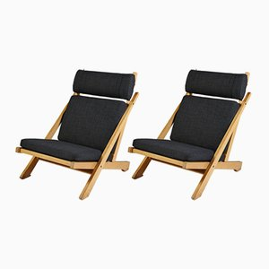 Model CH03 Easy Chairs by Hans Wegner for Johannes Hansen, 1950s, Set of 2