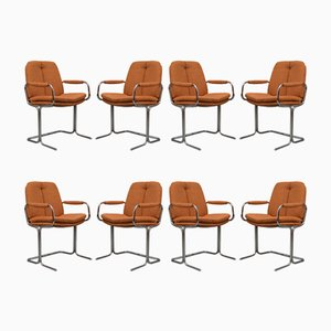 Eleganza Dining Chairs by Tim Bates for Pieff, 1970s, Set of 8