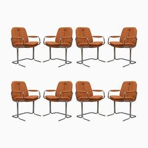 Eleganza Esszimmerstühle von Tim Bates für Pieff, 1970er, 8er Set