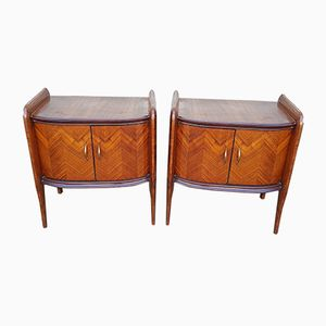 Mid-Century Rosewood Bedside Tables, 1950s, Set of 2