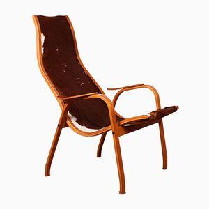 Mid-Century Teak Kurva Lounge Chair by Yngve Ekström