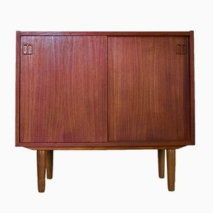 Small Danish Teak Sideboard by N.P. Nielsen for Sejling Skabe, 1960s