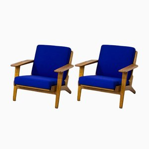GE-290 Armchairs by Hans Wegner for Getama, 1950s, Set of 2