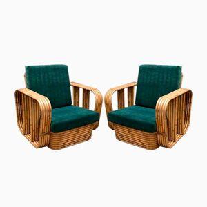 Fauteuils Vintage en Rotin et Bambou, Set de 2