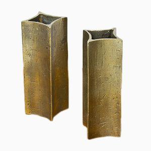 Jarrones de bronce suecos, años 60. Juego de 2