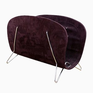 Suede Magazine Rack