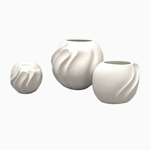 Mid-Century Biscuit Porcelain Vases from Kaiser, 1960s, Set of 3