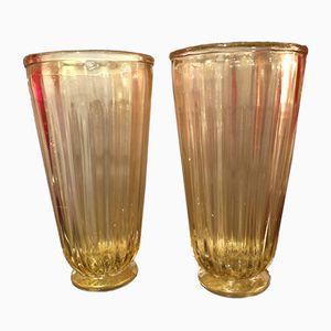 Vases en Verre Murano, 1980s, Set de 2