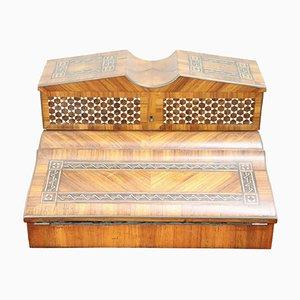 Antiker Schreibtisch aus Palisander mit Intarsien, 1880er