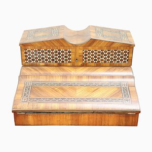 Antique Inlaid Writing Desk in Rosewood, 1880s