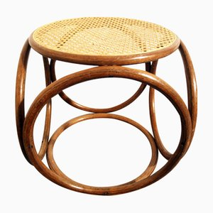Vintage Bentwood and Cane Footstool