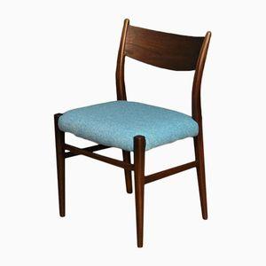 Chaise d'Appoint Mid-Century à Tissu d'Ameublement Bleu