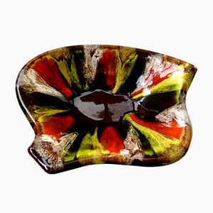 Mottled Drip-Glaze Tray by Helene Ugo from Vallauris, 1950s